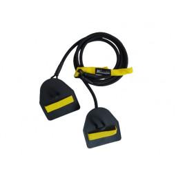 Elastique double avec paddles - Resistance moyenne (jaune)