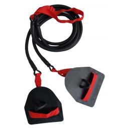 Elastique double avec paddles - Résistance forte (rouge)