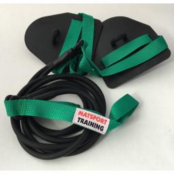 Elastique double avec paddles (vert léger)