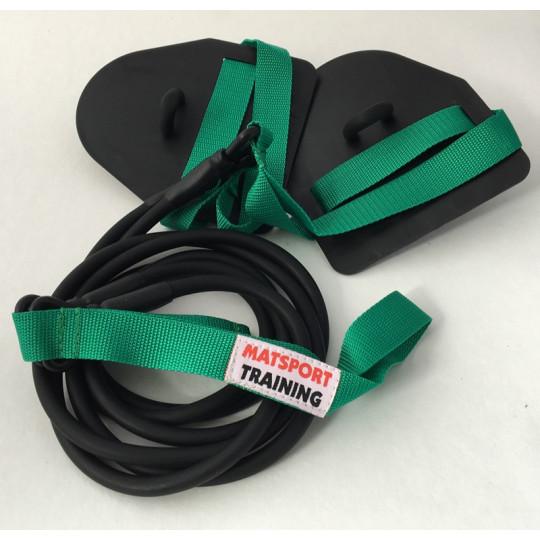 Elastique double avec chevillières (vert léger)