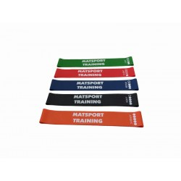 """Kit de 5 Bandes Elastiques """"MiniLoop"""" pour Etirements/Renforcement"""