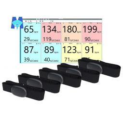Pack 5 ceintures à Mémoire Mooky HR5 avec logiciel Mooky Center