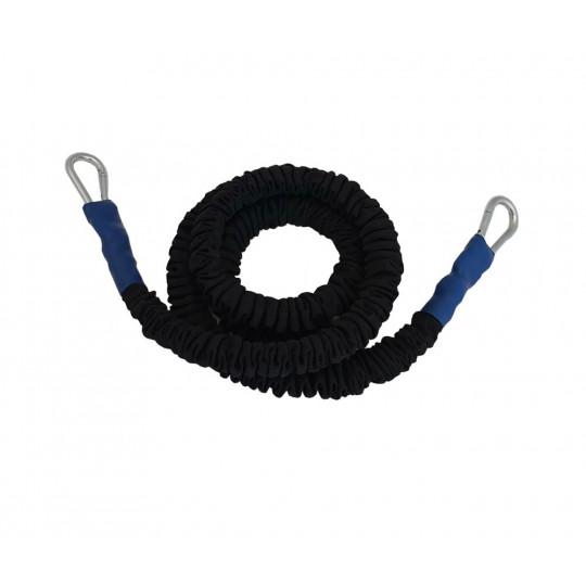 Elastique gainé - résistance moyenne (bleu) - 300 cm