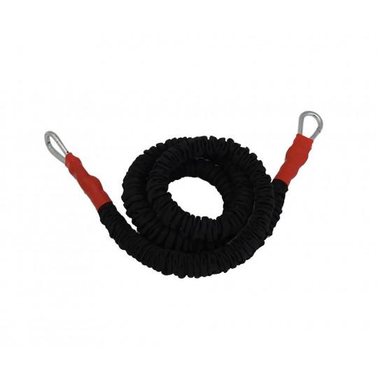 Elastique gainé - résistance élevée (rouge) - 300 cm