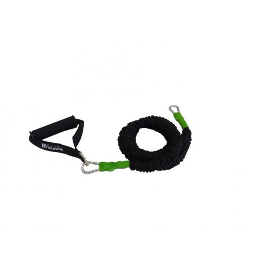 Elastique gainé - résistance légère (vert)