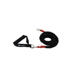 Elastique gainé 150 cm avec poignées - résistance élevée (rouge)