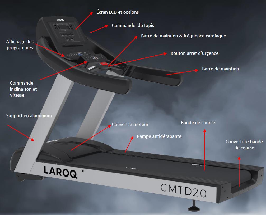 Tapis de course Laroq série 20
